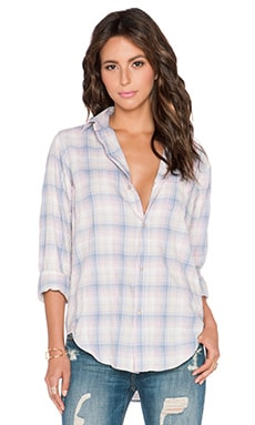 Current/Elliott The Prep School Shirt in Desert Plaid