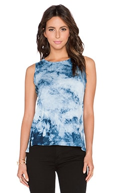 Current/Elliott The Muscle Tee in Indigo Summer Tie Dye