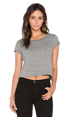 Current/Elliott The Boxy Crop Tee in Heather Grey