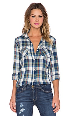 Current/Elliott The Perfect Shirt in Dixie Plaid