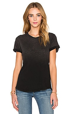 Current/Elliott The Rolled Sleeve Tee in Black Satellite