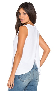 The Cross Back Muscle Tee in Sugar