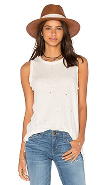 Current/Elliott The Muscle Tee in White Porto Destroy