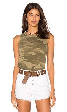 Current/Elliott Muscle Tee in Army Camo