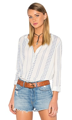 Current/Elliott The Annabelle Blouse in Daisy Stripe
