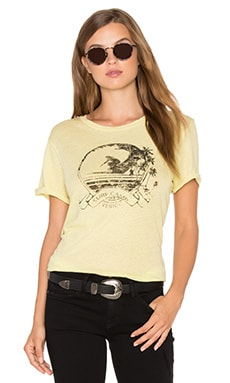 The Rolled Sleeve Crew Neck Tee in Elfin Yellow