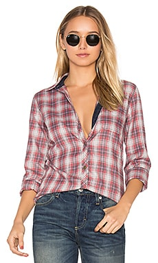 The Slim Boy Button Up in Railroad Plaid
