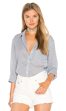 The Boyfriend Shirt in Stripe Chambray