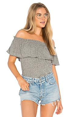 The Ruffle Top in Heather Grey