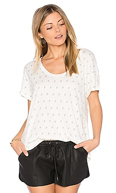 The Slouchy Scoop Tee в цвете Dirty White & Mint Cactus