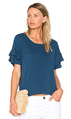 The Ruffle Roadie Tee in Blue Wing Teal