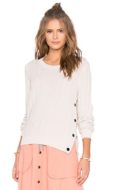 Giulia Side Button Sweater in Crystal Grey