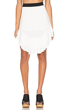 custommade Marcella Ruffle Skirt in Whisper White
