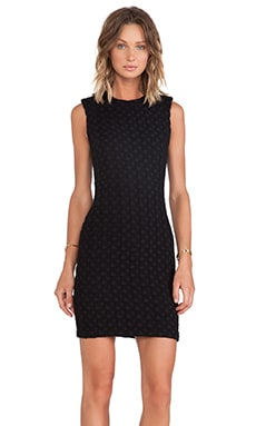 Cut25 by Yigal Azrouel Textured Fitted Dress in Jet