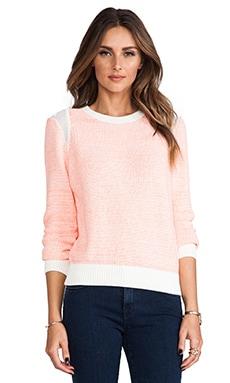 Cut25 by Yigal Azrouel Neon Knit Sweater in Orange Multi