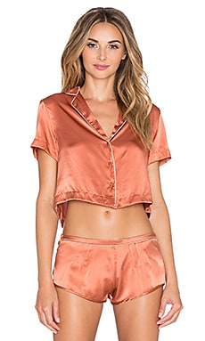 Curriculum Vitae Coppola Crop Top in Sienna & Greige