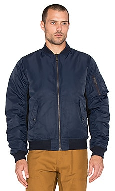 Carhartt WIP Ashton Bomber Jacket in Navy & Black