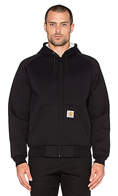 Carhartt WIP Car-Lux Zip Hoodie Jacket in Black & Grey