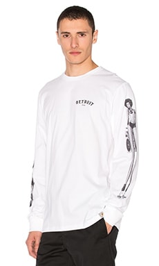 MMC Detroit Soul Skate L/S Tee in White & Black