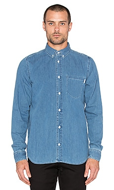 Carhartt WIP Civil Button Up in Blue