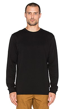 Carhartt WIP State Campus Long Sleeve Tee in Black & White