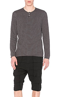 CWST Badland Henley in Black Stripe