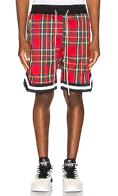 Plaid Jordan Ball Shorts Crysp Denim $41