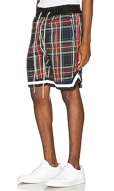 Plaid Jordan Ball Shorts Crysp Denim $58
