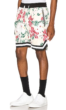 Floral Jordan Ball Shorts Crysp Denim $58