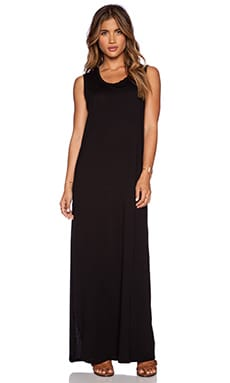 Daftbird Sleeveless Tee Dress in Black