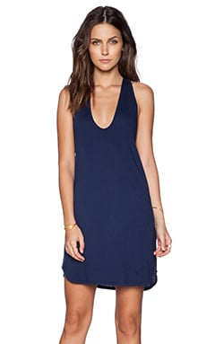 Daftbird Low Scoop Tank Dress in Yankee