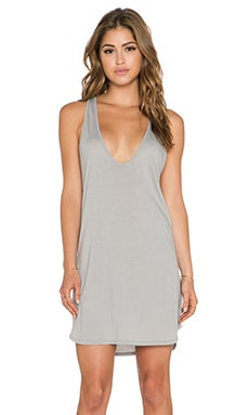 Daftbird Low Scoop Tank Dress in Graphite
