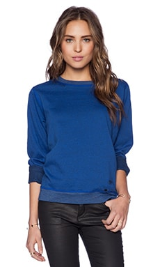 Daftbird P.E. Flatlock Fleece Sweatshirt in Cobalt