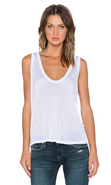 Daftbird Super Low Scoop Tank in White