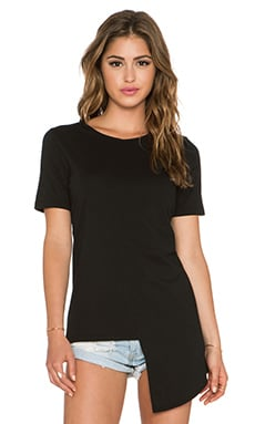 Daftbird Side Tail Tee in Black