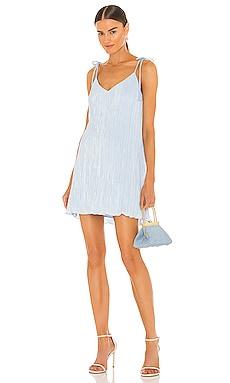 Mini Pleated Tie Strap Slip Dress DANNIJO $220