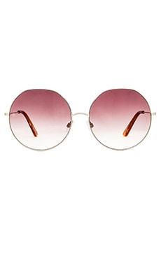 D'Blanc Sonic Bloom Sunglasses in Polished Nickel & Brown Gradient