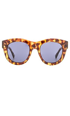 D'Blanc Psychedelic Solution Sunglasses in Leopard Tort Gloss & Marine Grey