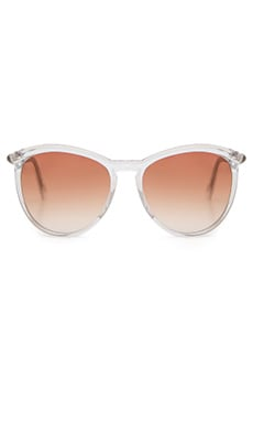D'Blanc Stay Tuned Sunglasses in Polished Lucite & Gradient