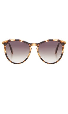 D'Blanc Stay Tuned Sunglasses in Leopard Tort Gloss & Gradient