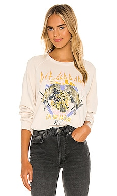 Def Leppard On The Prowl Varsity Crew Sweatshirt DAYDREAMER $99