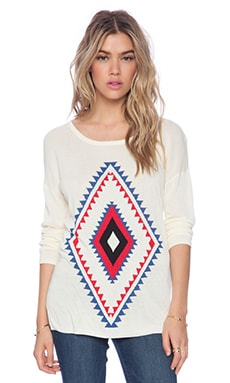 DAYDREAMER Everyday Desert Diamond Sweater in Cream