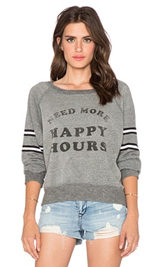 DAYDREAMER Happy Hours Sweatshirt in Heather Grey