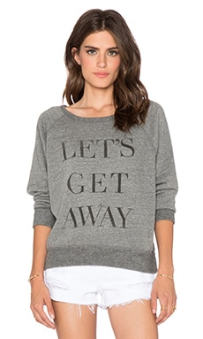 DAYDREAMER Let's Get Away Sweatshirt in Heather Grey
