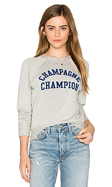 Champagne Champion Sweatshirt in Heather Grey