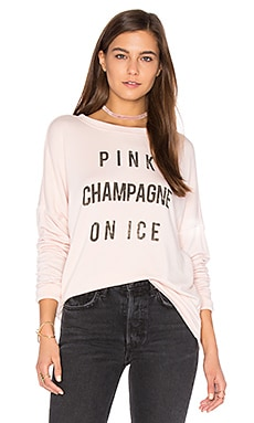 Pink Champagne Sweatshirt in Powder Pink