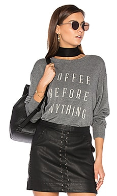 Coffee Before Anything Sweatshirt in Charcoal