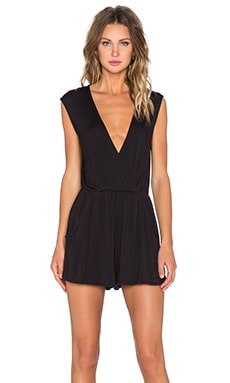 DAYDREAMER Short Romper in Black