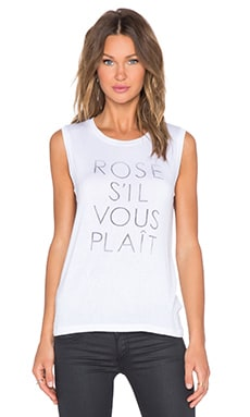 DAYDREAMER Rose S'il Vous Plait Tank in White