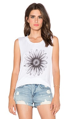 DAYDREAMER Daisy Tank in White